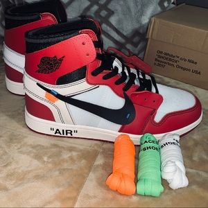 Off-White Shoes - New OFF-WHITE x Nike Air Jordan 1 'Chicago'.